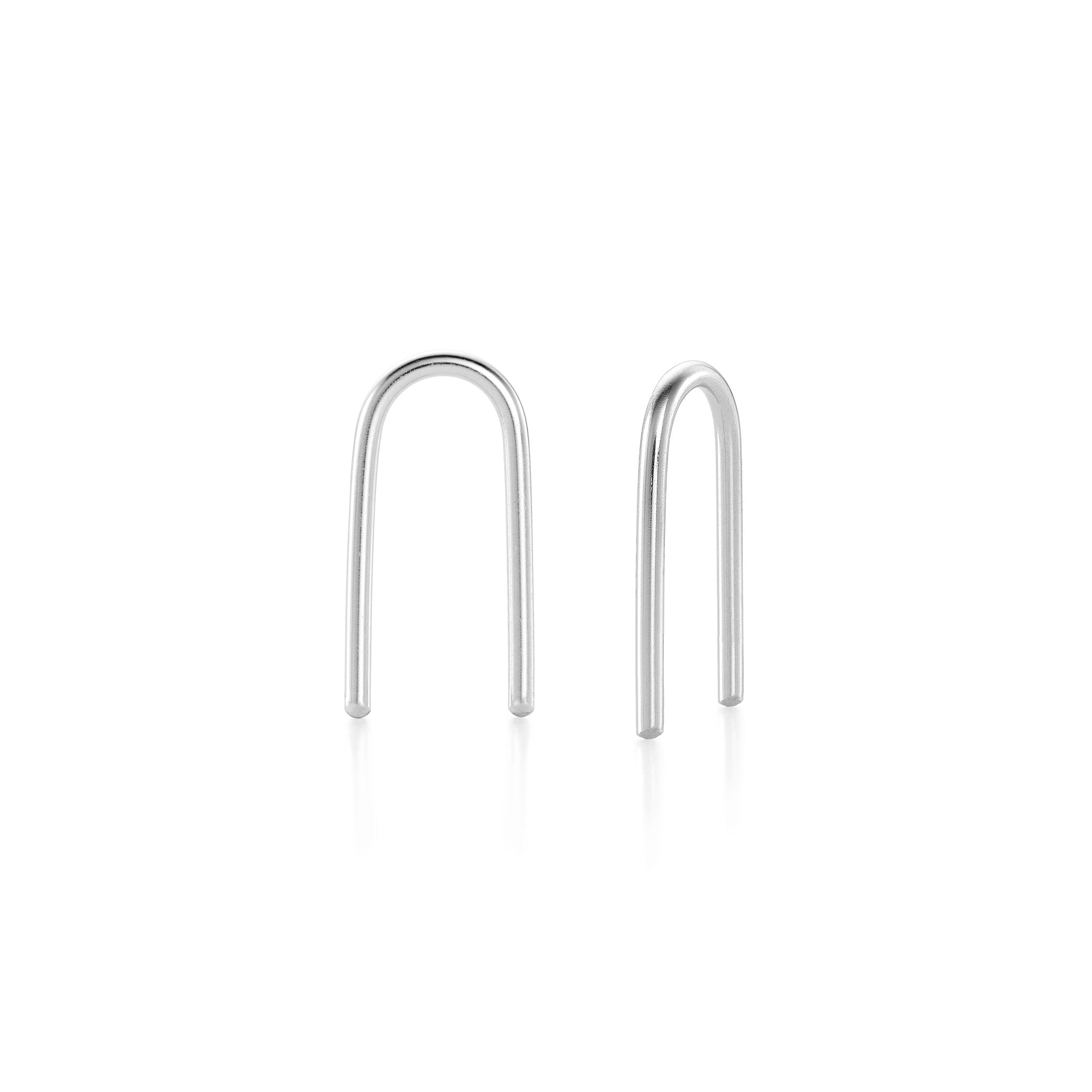 U-Shaped Earrings - Silver