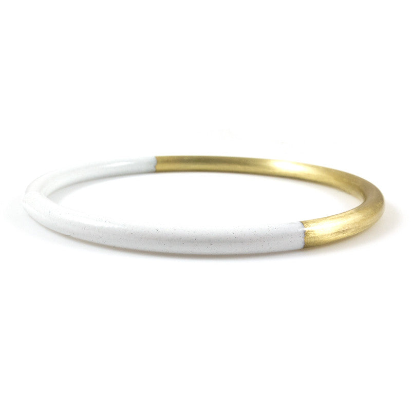 White Dipped Bangle