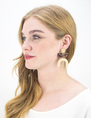 Arch Earrings - Rose Confetti