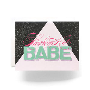 Smokin Hot Babe Card