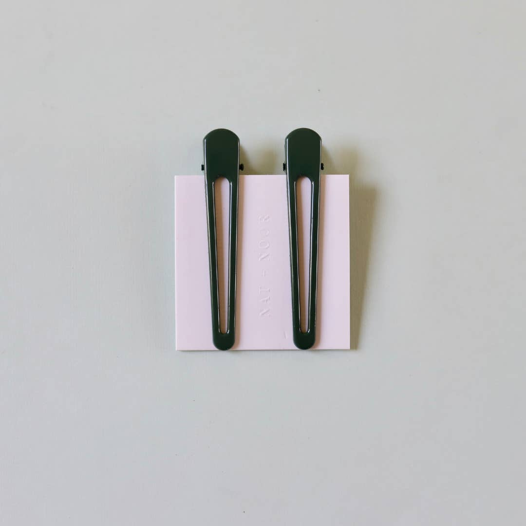 Triangle Clip Duo - Forest Green