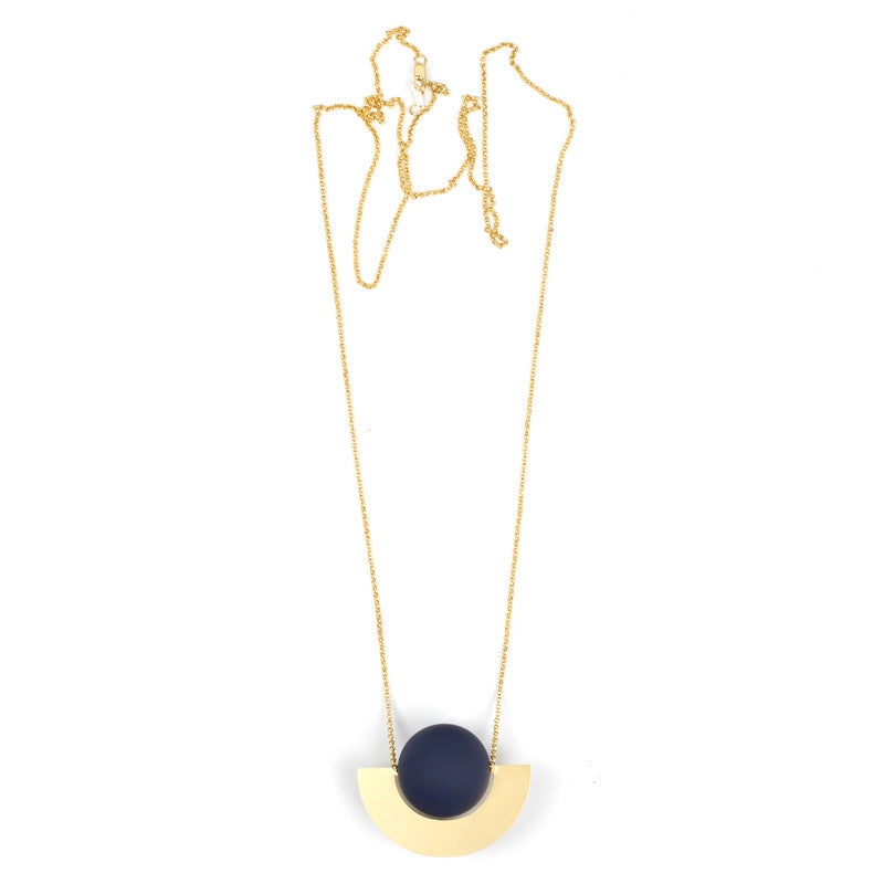 Beam Necklace - Navy