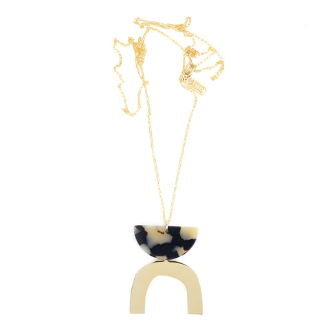 Arch Necklace - Beige Tort