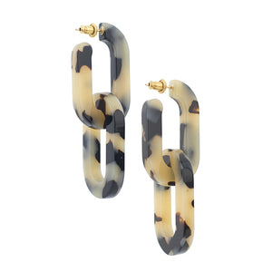 Catena Earrings - Beige Tort