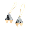 Brushed Pennant Earrings