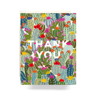 Cactus Explosion Thank You Card