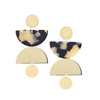 Cargo Earrings - Beige Tort