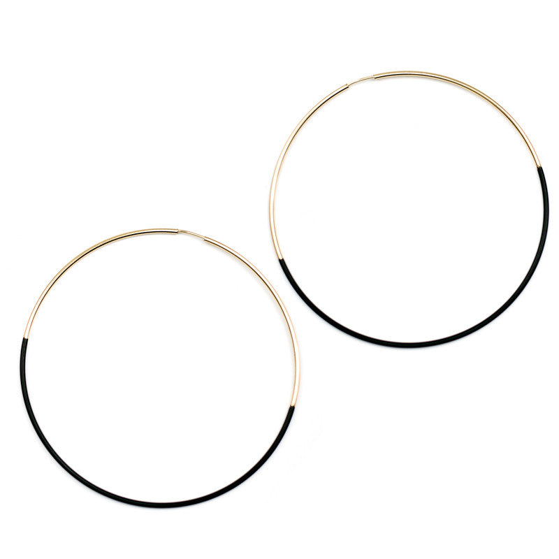 Dipped Hoop Earrings