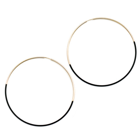 Black Dipped Hoops