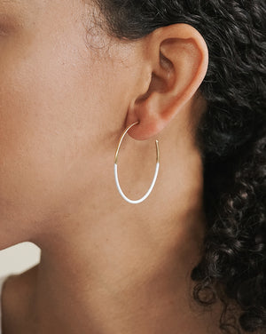 Dipped Leen Hoops - White