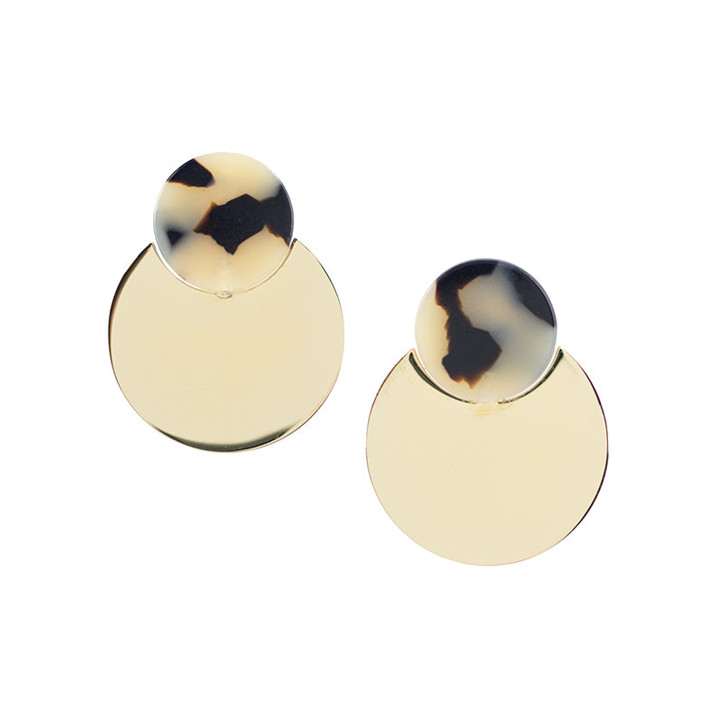 Dusk Earrings - Beige Tort