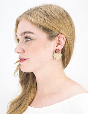 Dusk Earrings - Rose Confetti