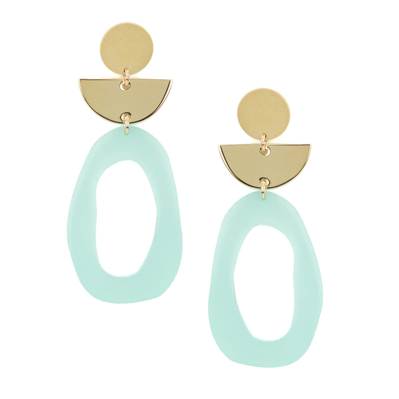 Flaunt Earrings - Sea Foam