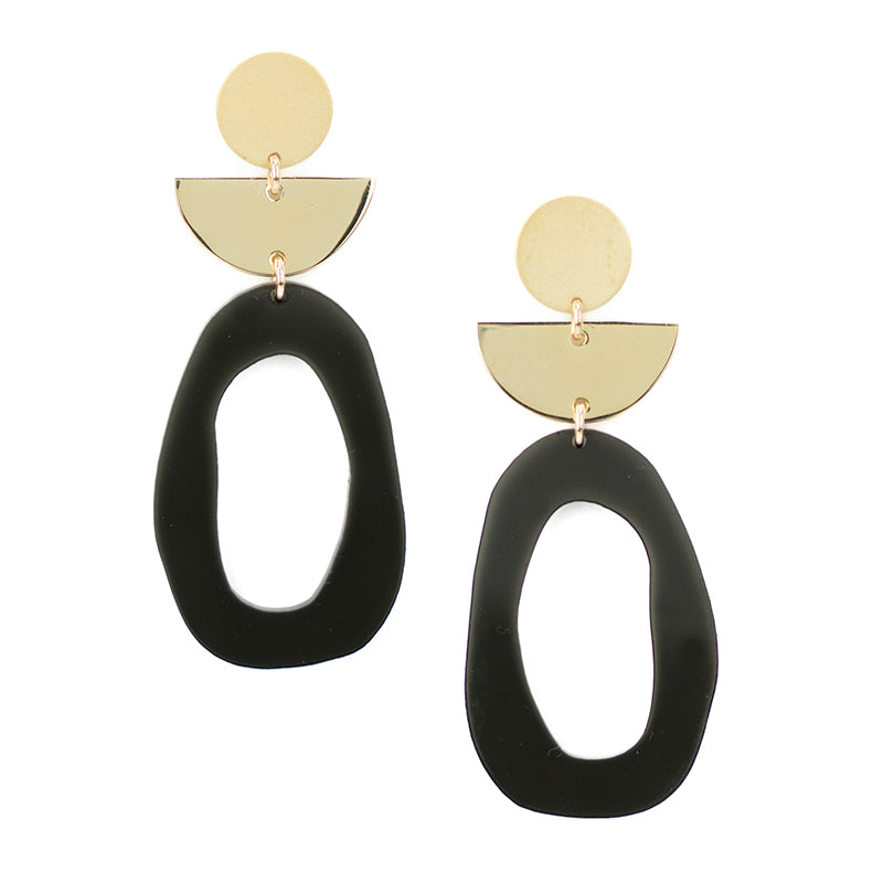 Flaunt Earrings - Smoke