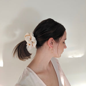Linen Scrunchie - Creamsicle