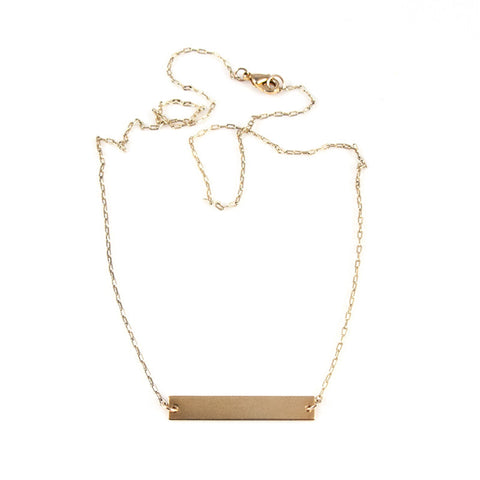 Gold Tab Necklace
