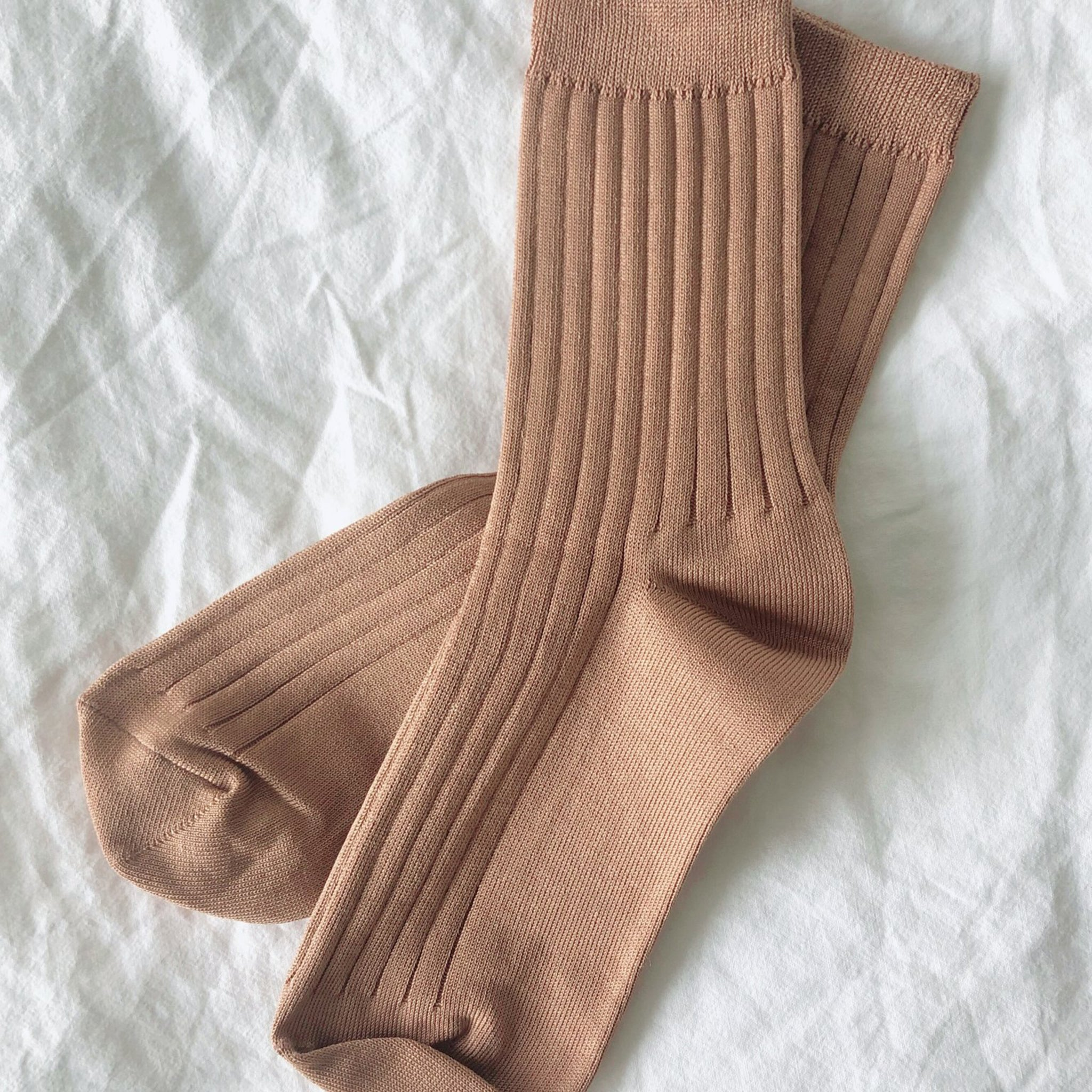 Ribbed Socks - Peanut Butter