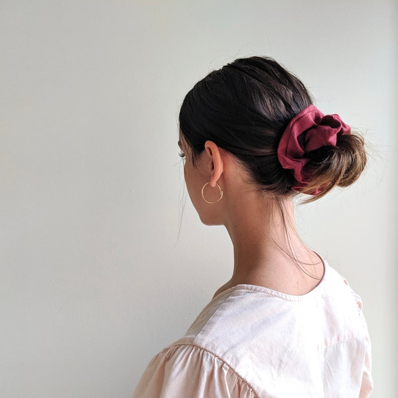 Linen Scrunchie - Blood Orange