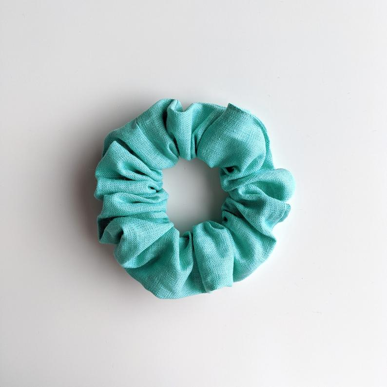 Linen Scrunchie - Spearmint