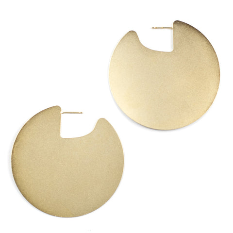 Large Meridian Earrings - Gold