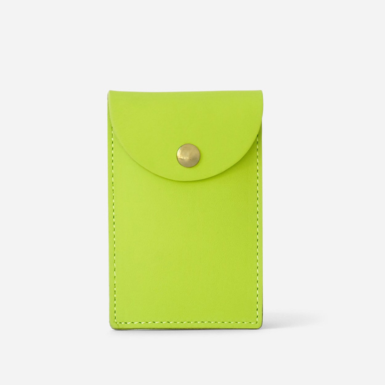 The Biggie Leather CC Case - Lime