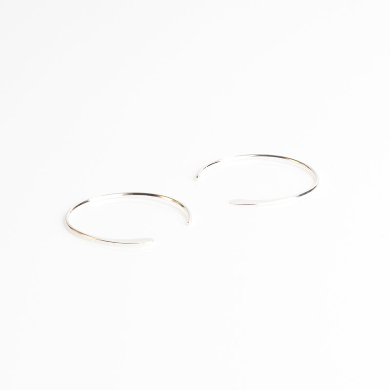 Silver Luna Hoops - Small
