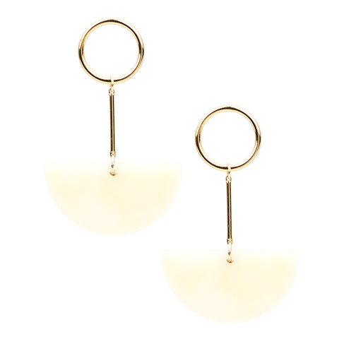 Lunette Earrings - Linen