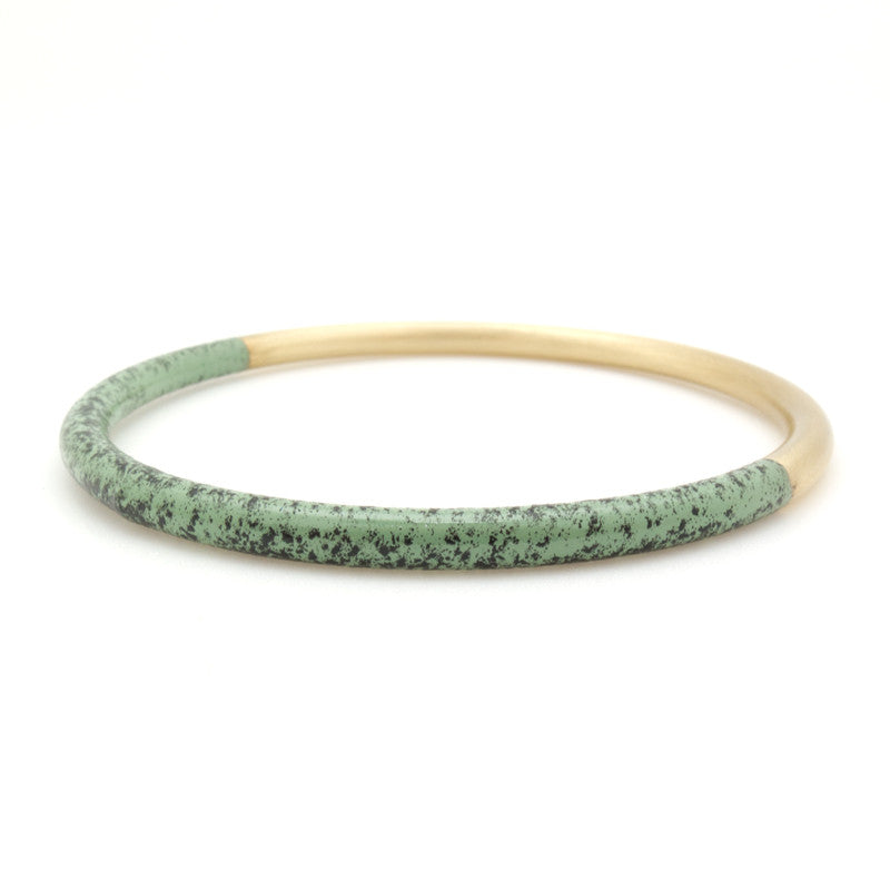 Mint Speckled Dipped Bangle