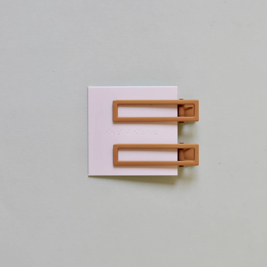 Short Square Clip Duo - Mustard