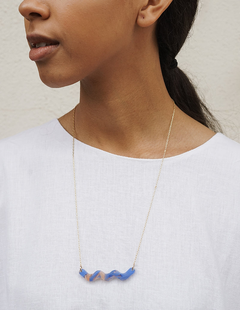 Motion Necklace - Blue Haze