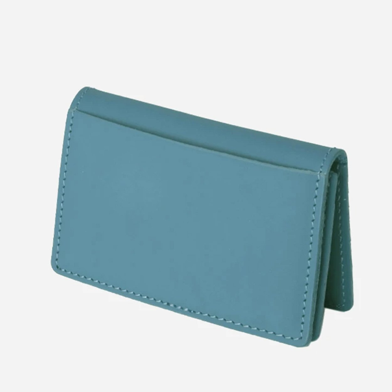The Oyster Foldover Leather Wallet - Pacific