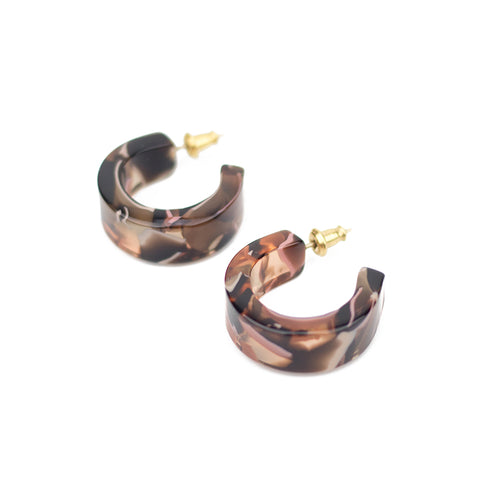 Pome Hoops - Rose Confetti