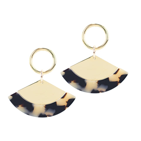 Quota Earrings - Beige Tort