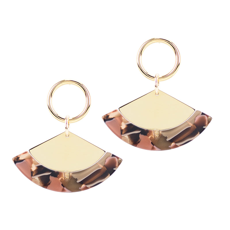 Quota Earrings - Rose Confetti