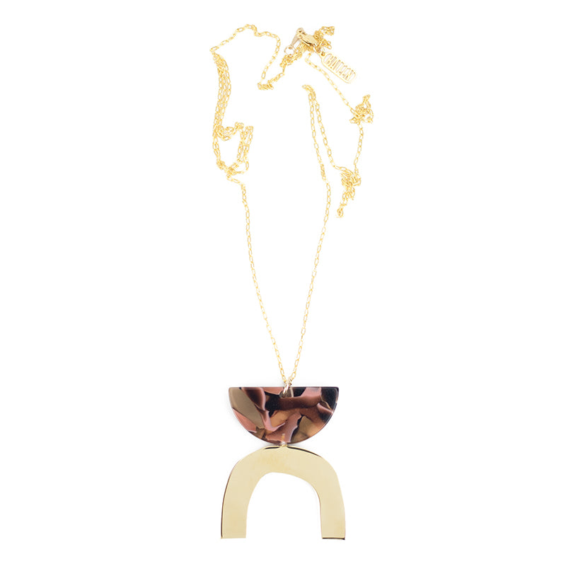 Arch Necklace - Rose Confetti