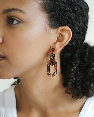 Catena Earrings - Rose Confetti