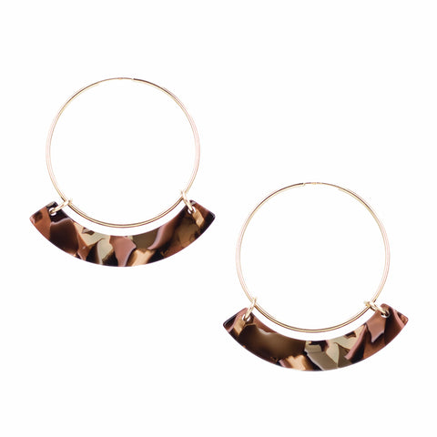 Small Corona Hoops - Rose Confetti