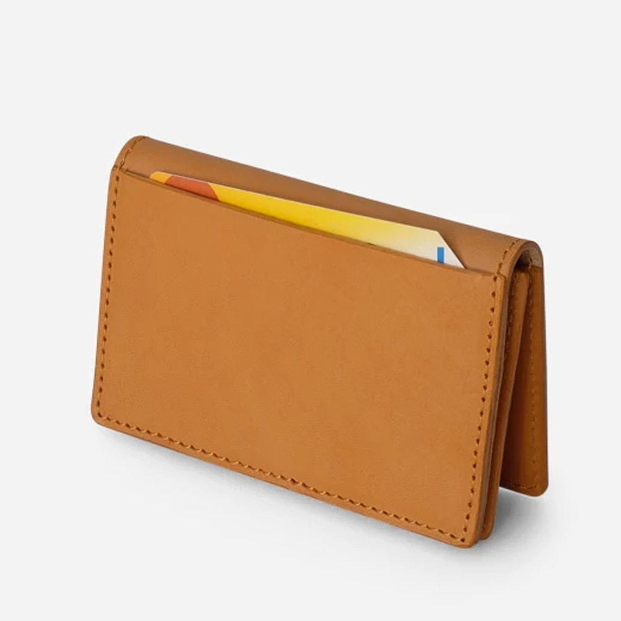 The Oyster Foldover Leather Wallet - Saddle