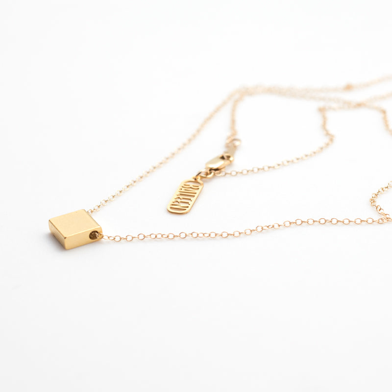Single Square Necklace