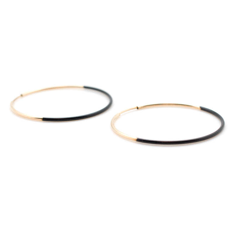 Small Dipped Hoop Earrings