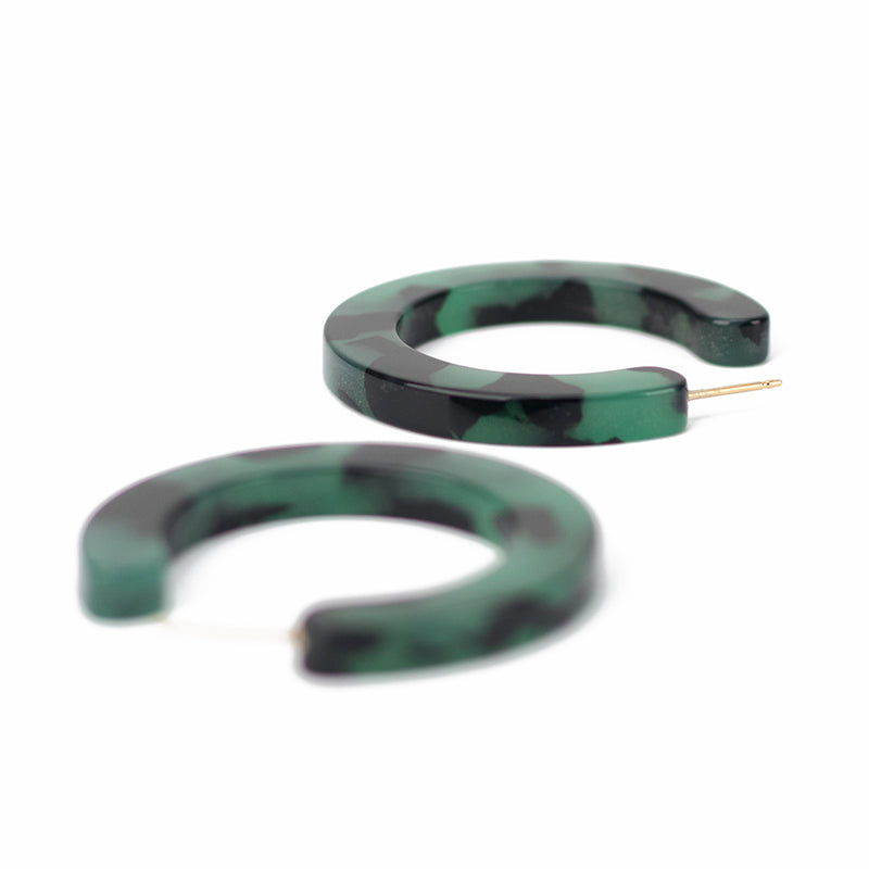 Small Slice Hoops - Green Tort