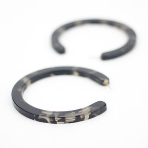 Large Slice Hoops - Smoke Tort