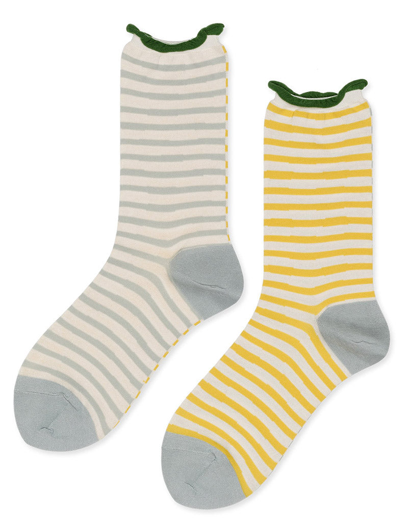 Not a Zig Zag Crew Socks - Pale Blue