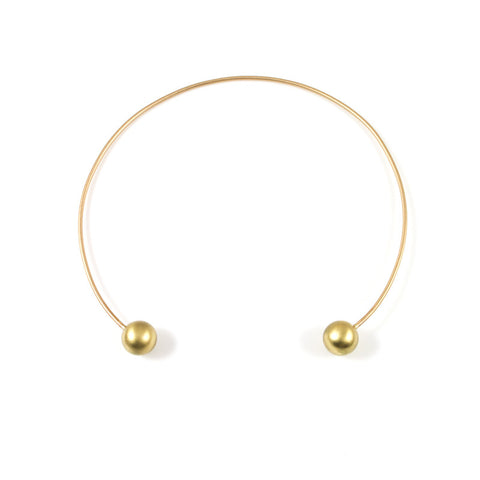 Sphere Cuff Necklace