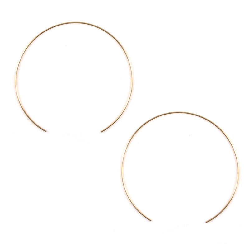 Gold Split Circle Hoops