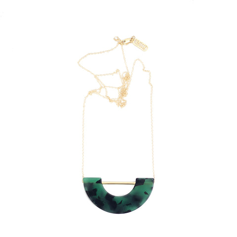 Umbra Necklace - Green Tort