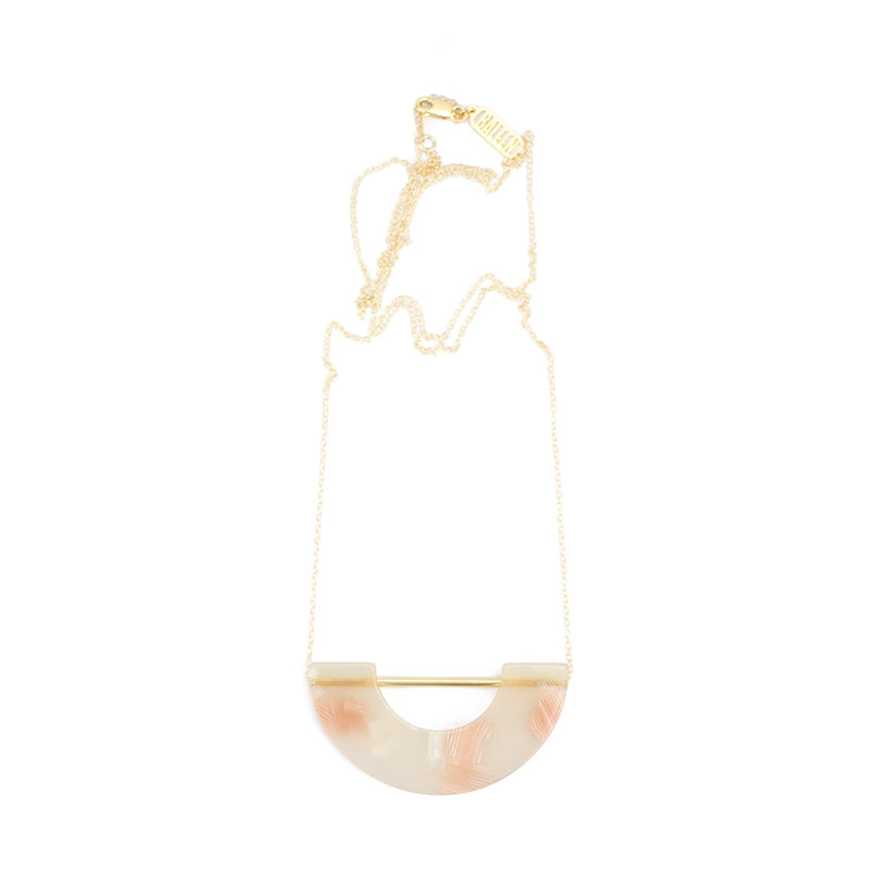 Umbra Necklace - Pink Shell