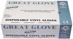 Economy 3 Mil Powdered Industrial/Food Grade Vinyl Glove