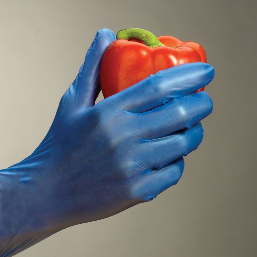 Vinyl Industrial Food Grade Gloves Blue Gloves By Web