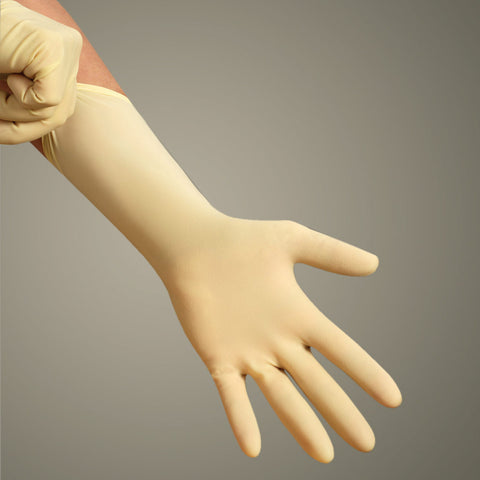 Long Cuff Latex Exam Gloves